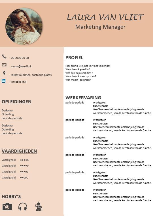 Bekend Gratis CV template &YO88