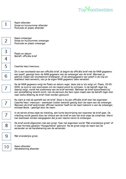 officiele brief officiele brief