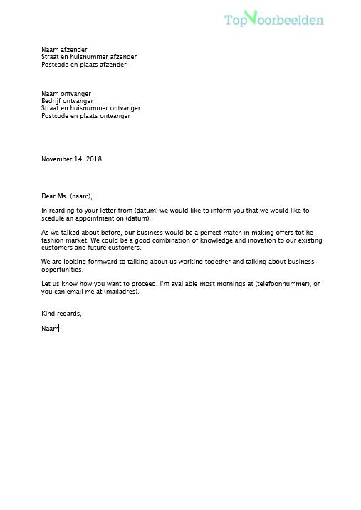officiele brief engels Engelse zakelijke brief