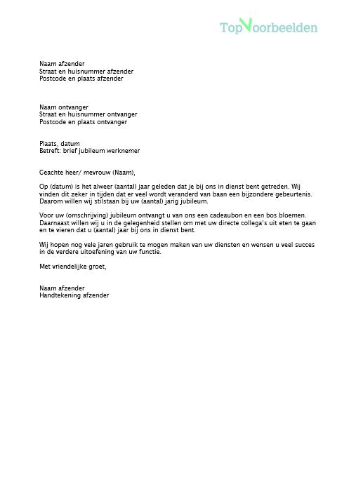Uitgelezene Brief jubileum CM-77